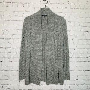 Ann Taylor Open Chunky Knit Wool Blend Cardigan